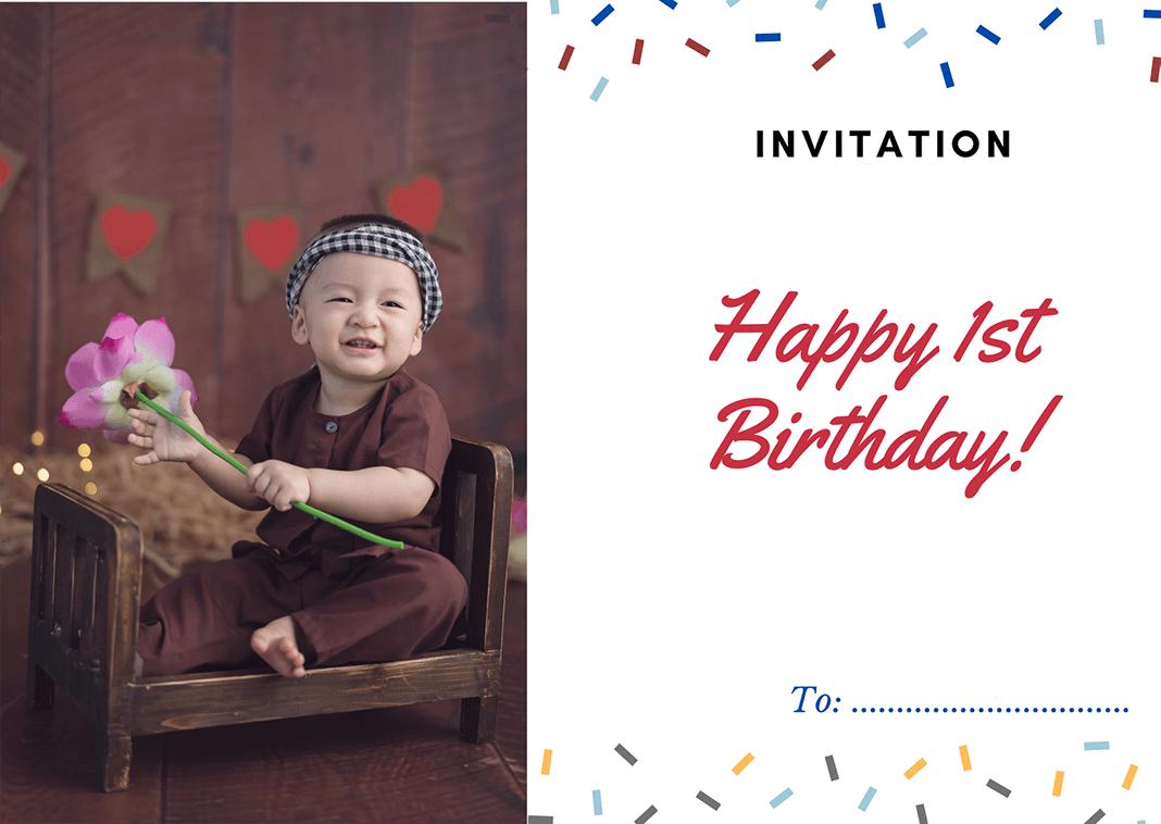 Thiệp mời sinh nhật
