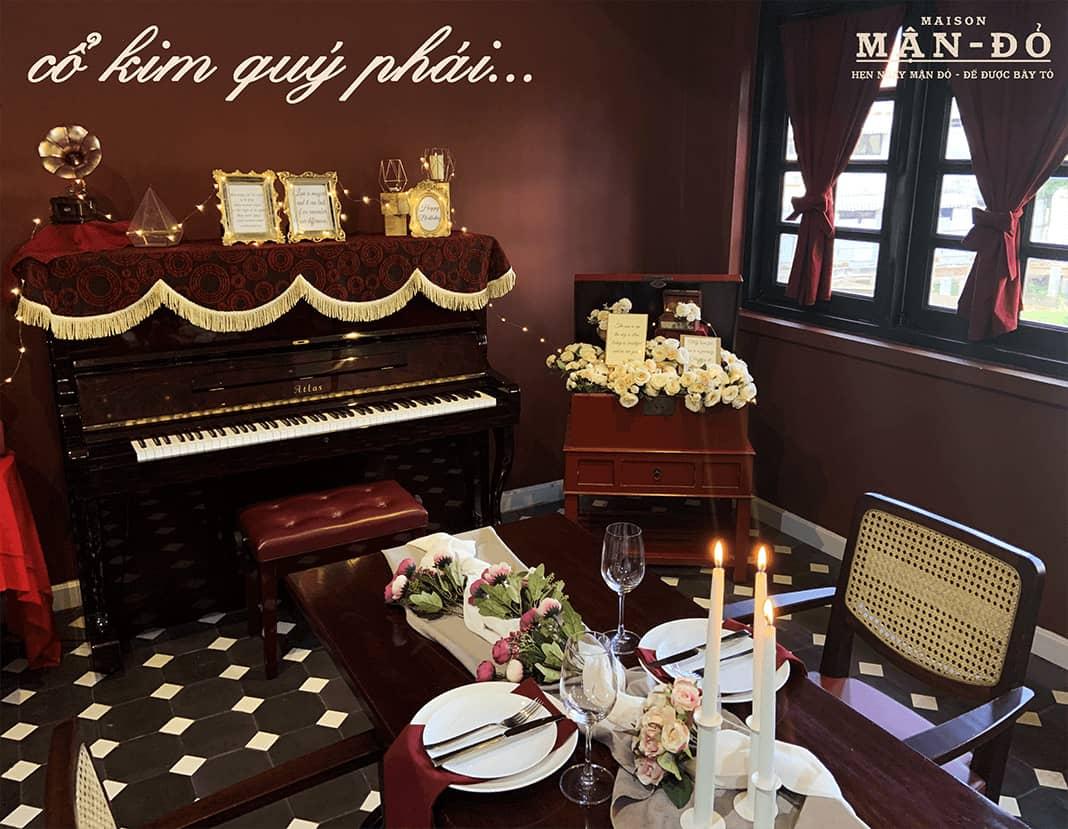 Phòng Piano tổ chức tiệc 2 người