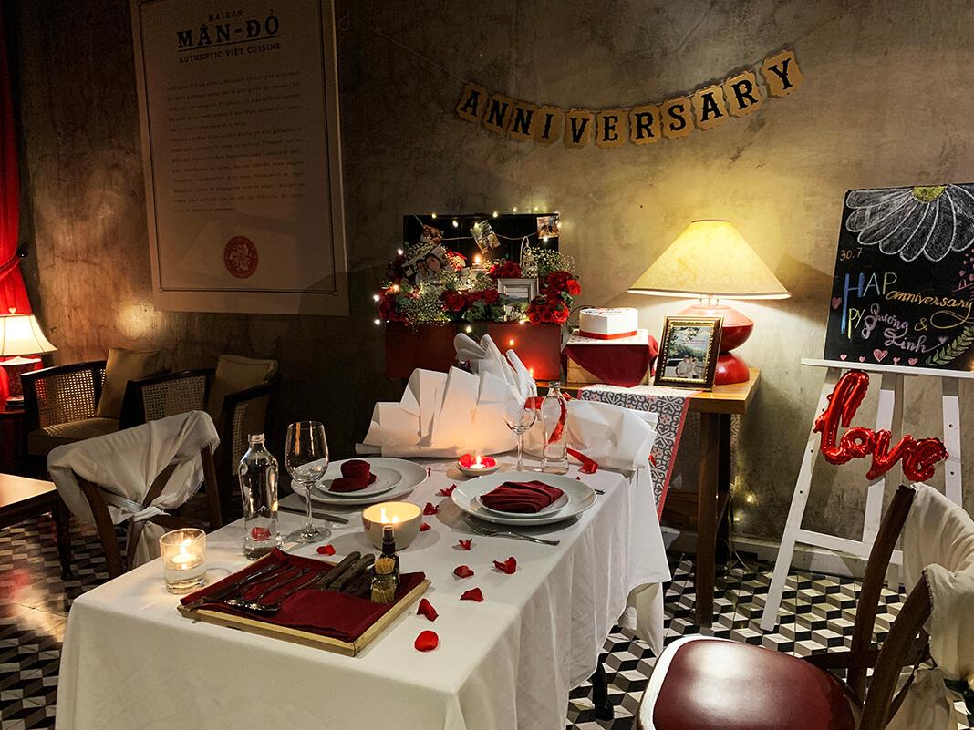 Không gian tổ chức tiệc cầu hôn lãng mạn