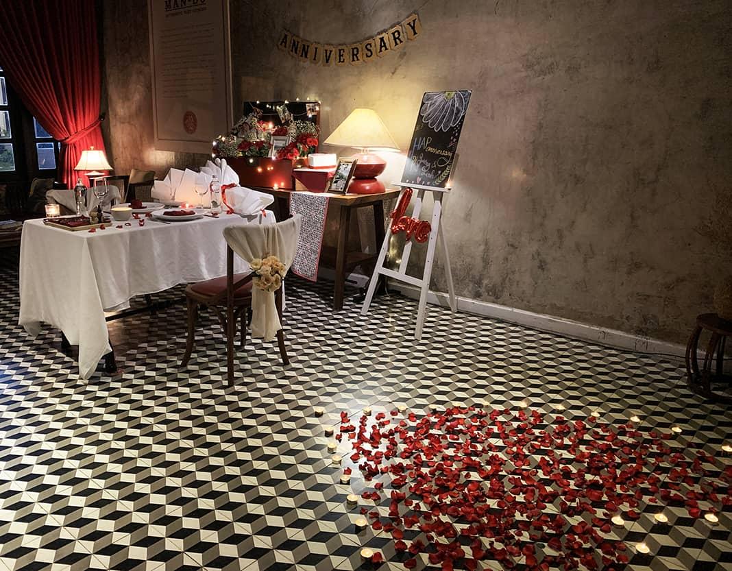 Không gian tổ chức tiệc lãng mạn